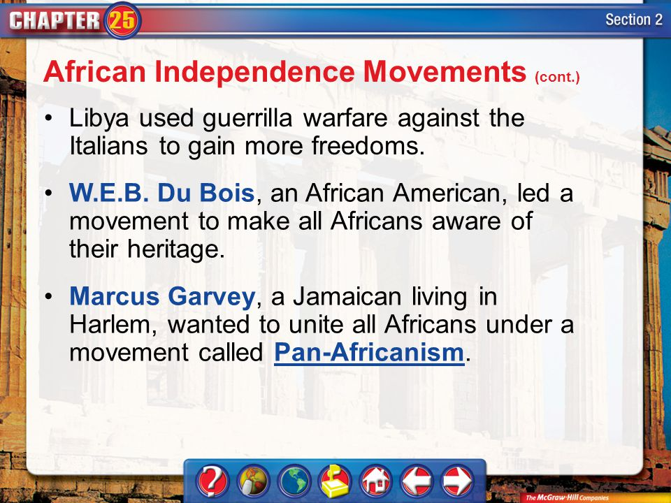 African Independence Movements (cont.)
