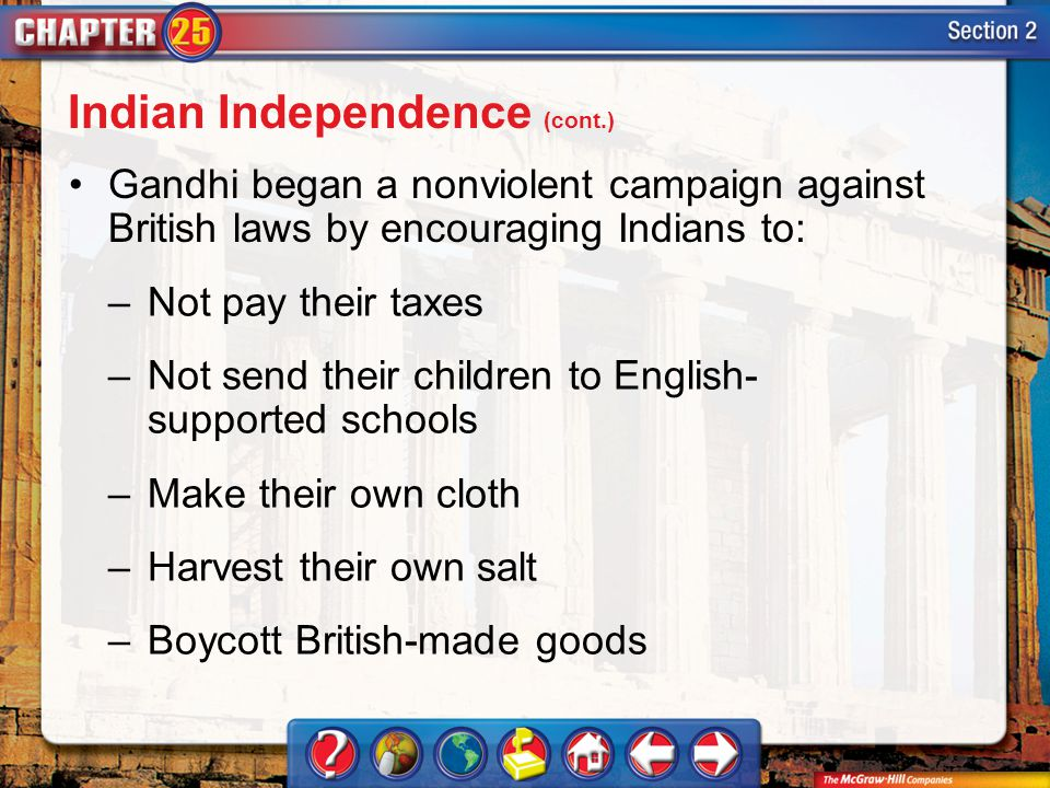 Indian Independence (cont.)