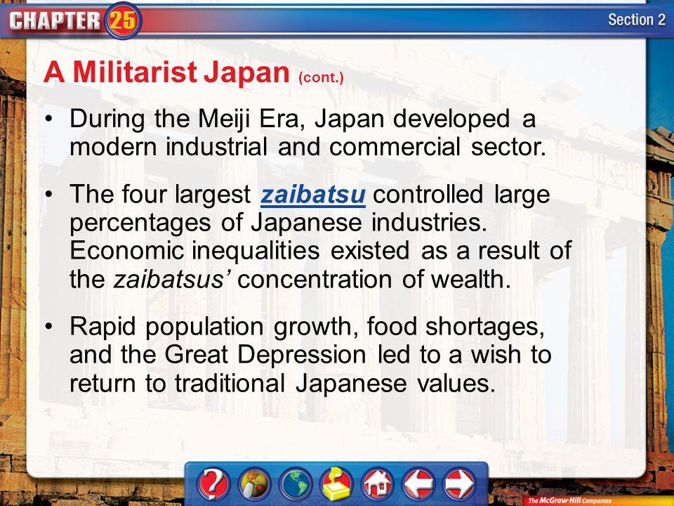 A Militarist Japan (cont.)