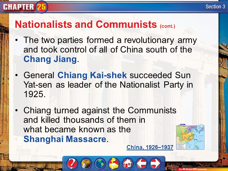 Nationalists and Communists (cont.)