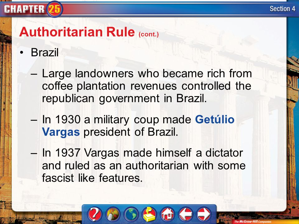Authoritarian Rule (cont.)