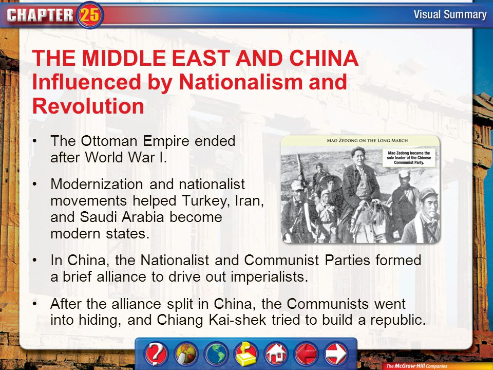 THE MIDDLE EAST AND CHINA Influenced by Nationalism and Revolution