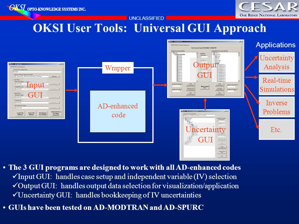 OKSI User Tools: Universal GUI Approach