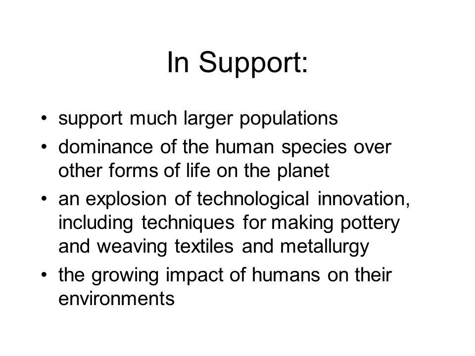 In Support: support much larger populations