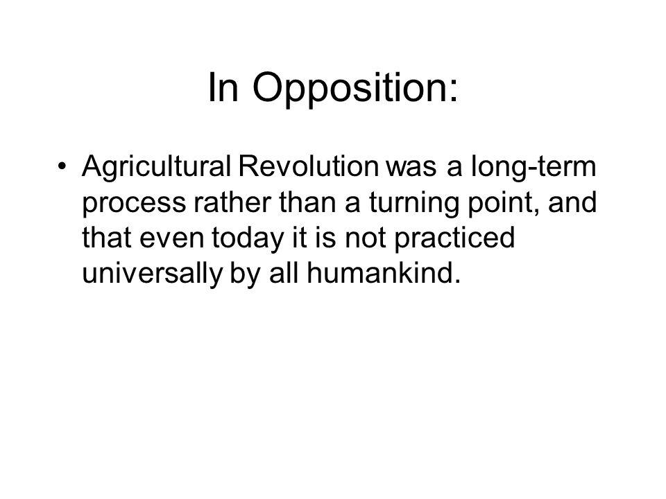 In Opposition: