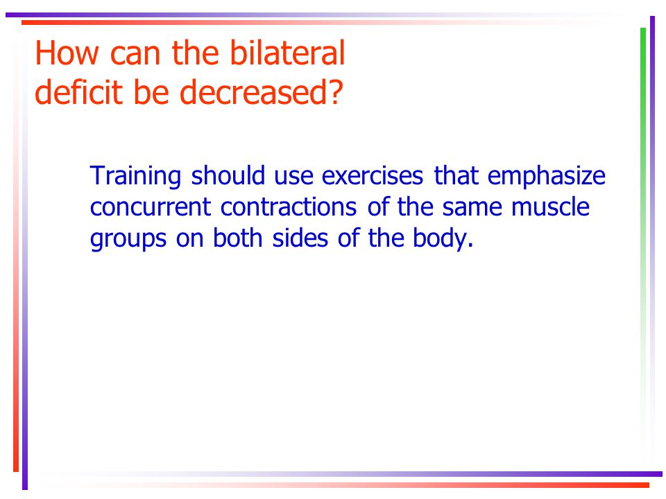 How can the bilateral deficit be decreased