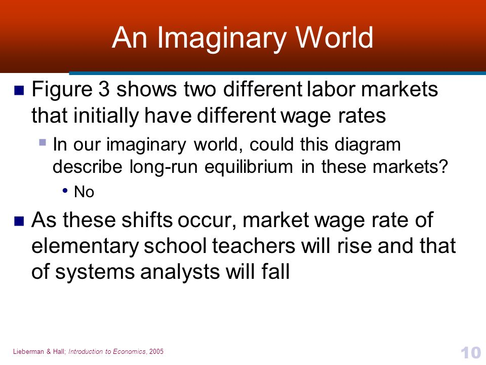 An Imaginary World Figure 3 shows two different labor markets that initially have different wage rates.
