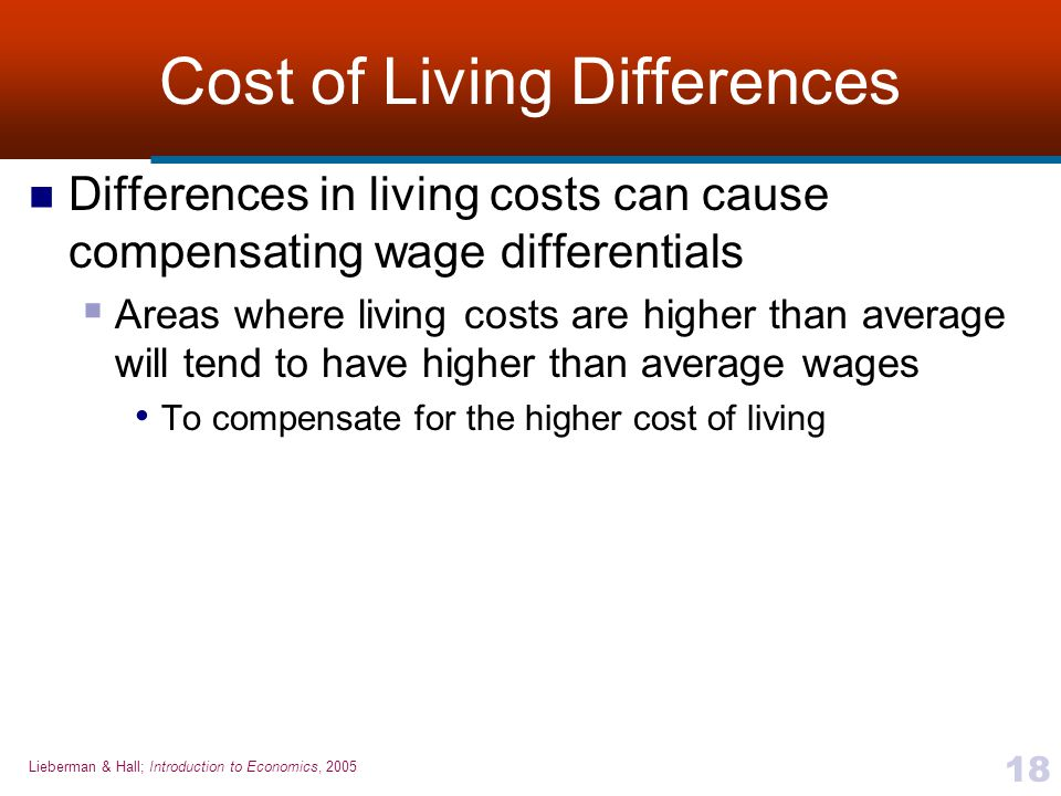 Cost of Living Differences