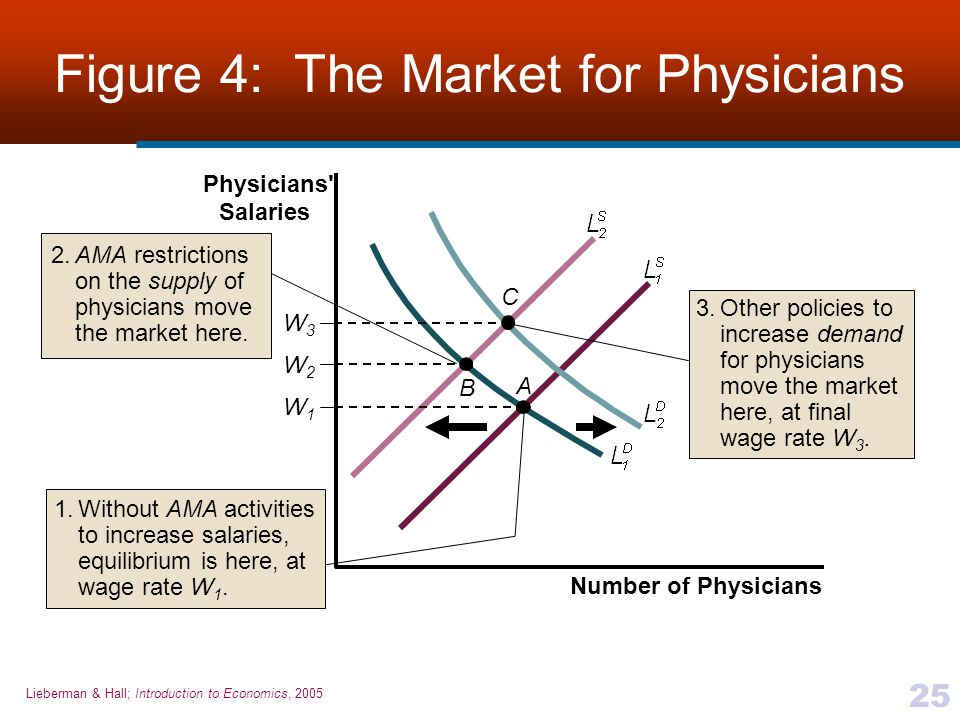 Figure 4: The Market for Physicians