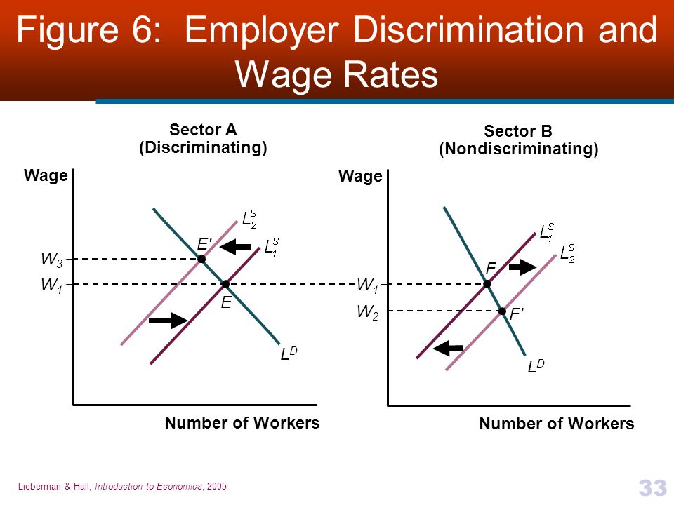 Figure 6: Employer Discrimination and Wage Rates