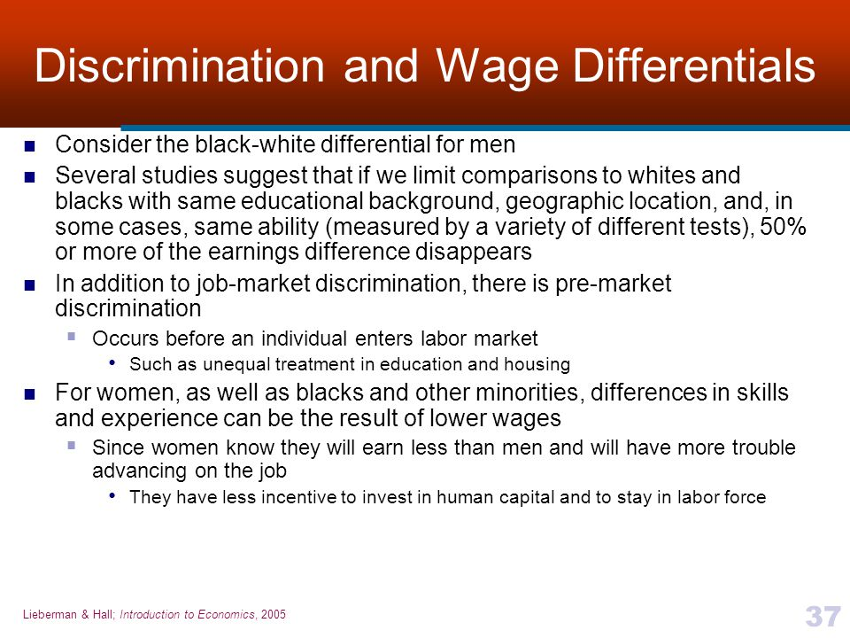 Discrimination and Wage Differentials