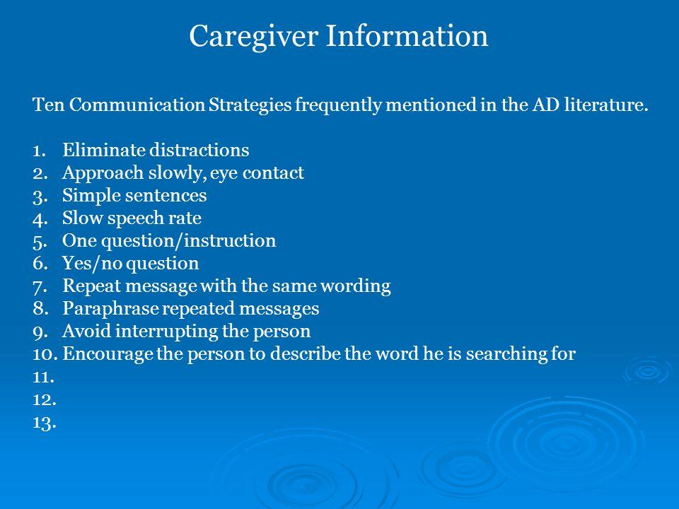Caregiver Information