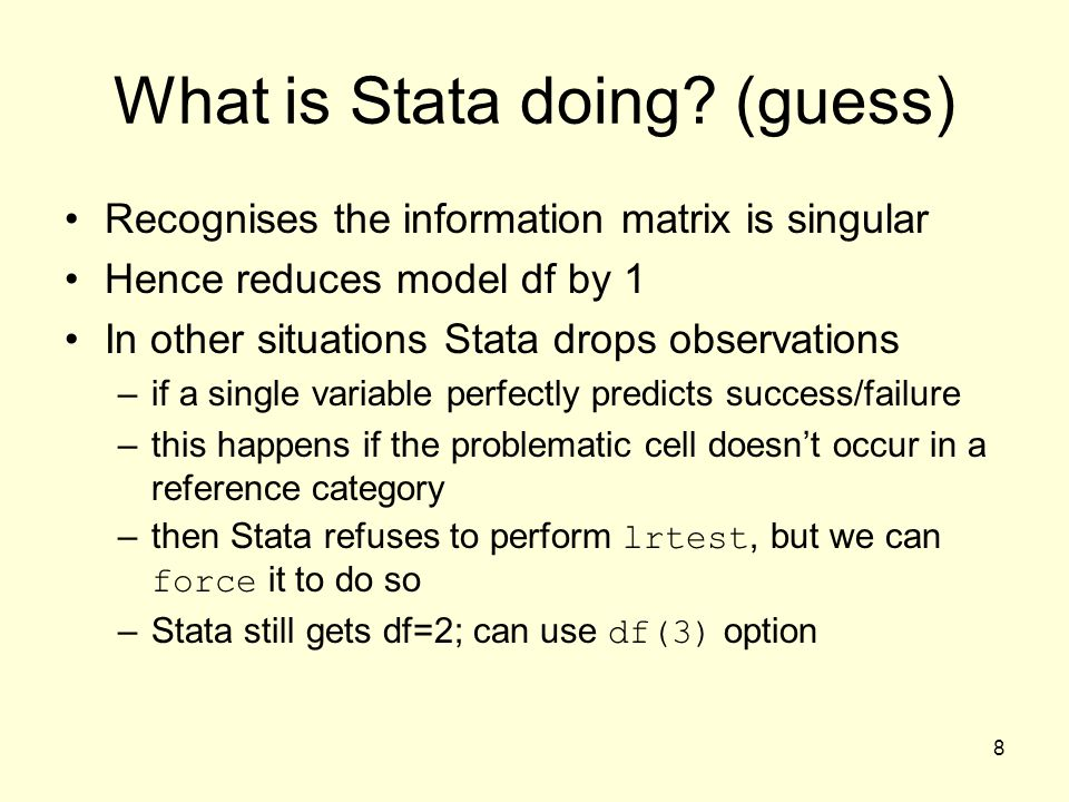 What is Stata doing (guess)