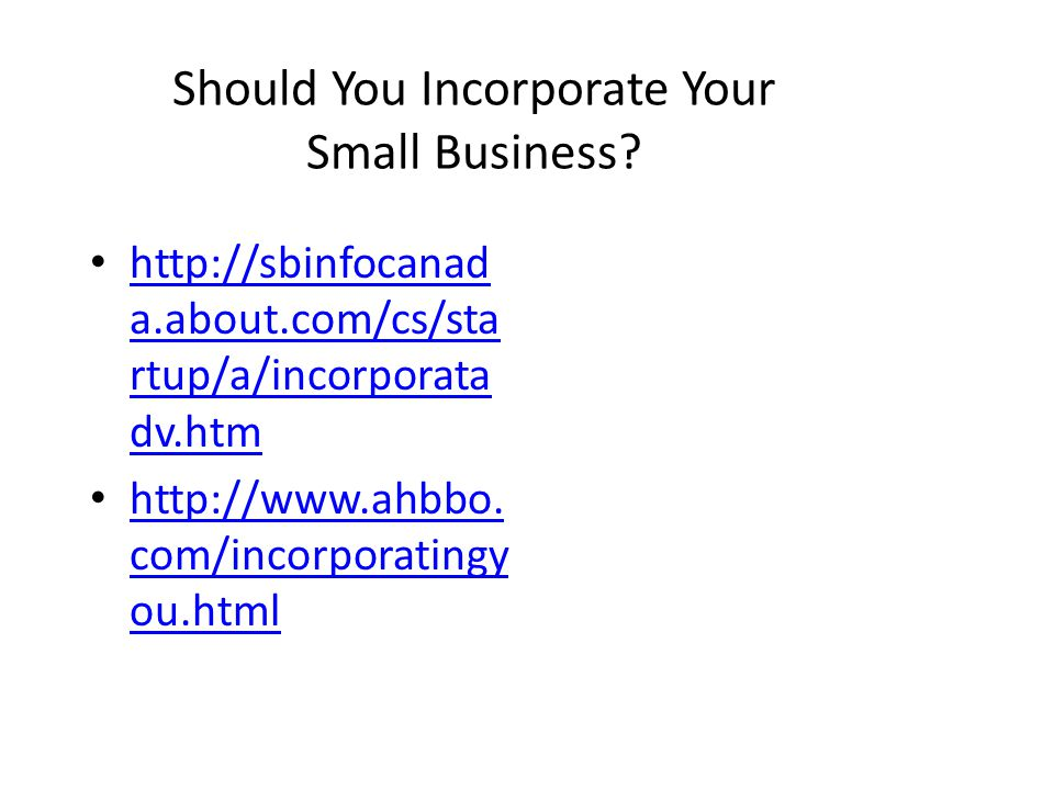 Should You Incorporate Your Small Business