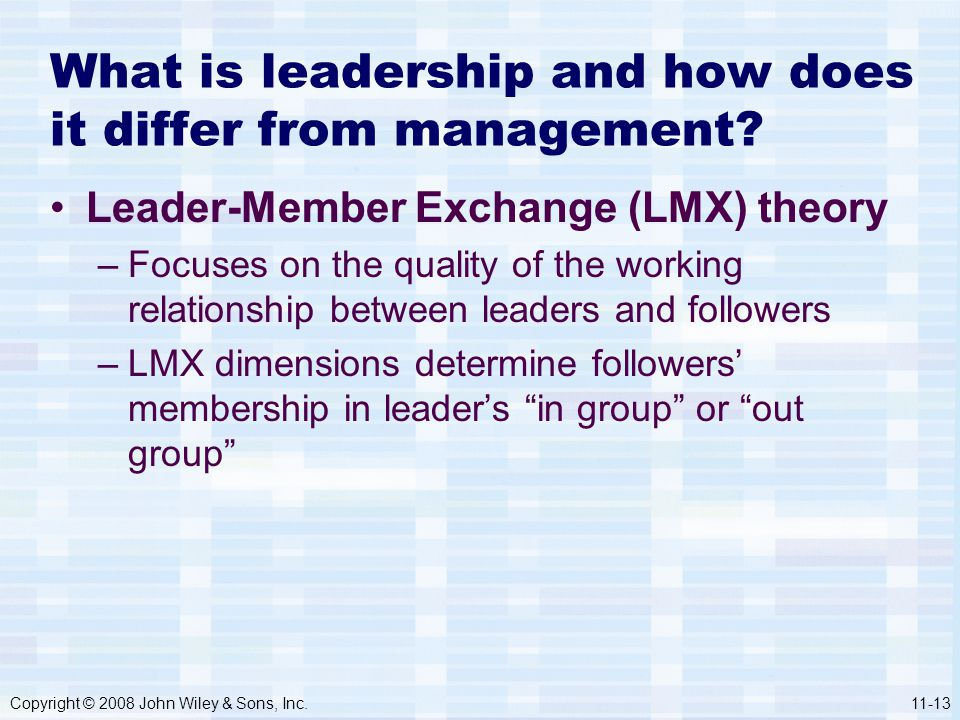 What is leadership and how does it differ from management