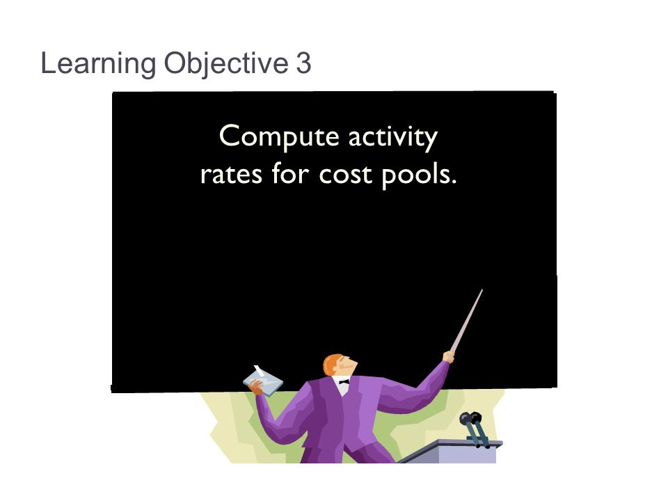 Compute activity rates for cost pools.