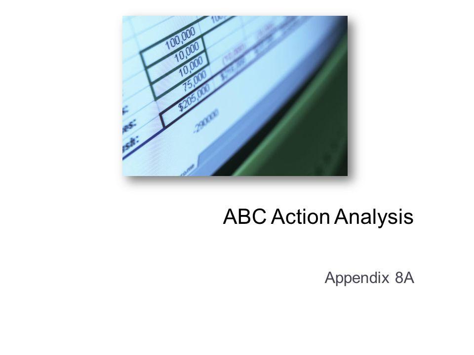 ABC Action Analysis Appendix 8A: ABC Action Analysis. Appendix 8A