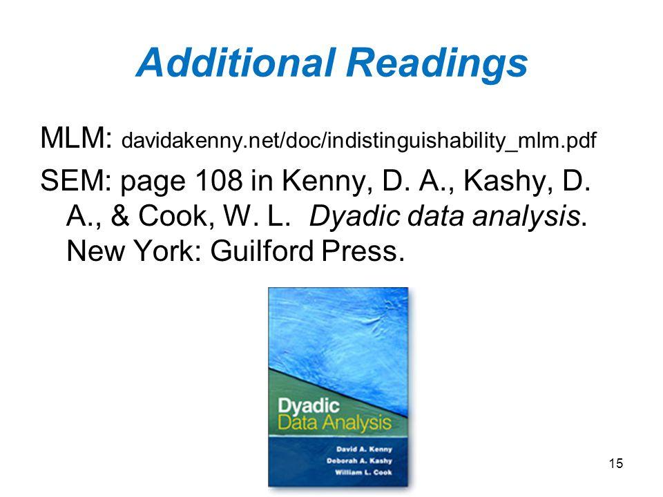 Additional Readings MLM: davidakenny.net/doc/indistinguishability_mlm.pdf.