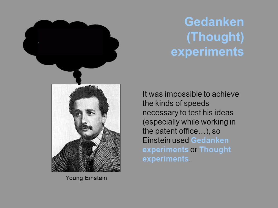 Gedanken (Thought) experiments