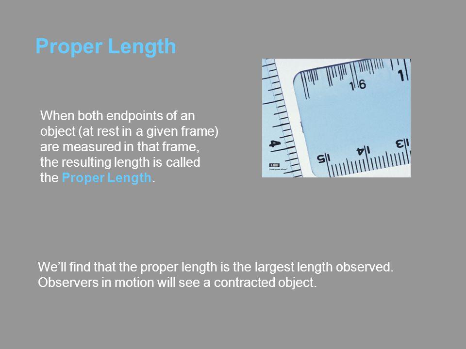 Proper Length
