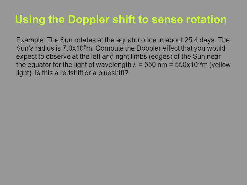 Using the Doppler shift to sense rotation