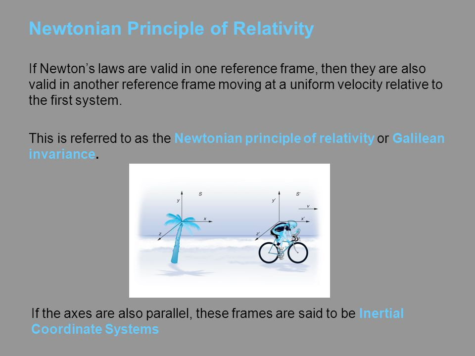 Newtonian Principle of Relativity