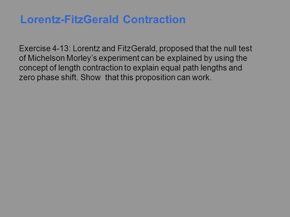 Lorentz-FitzGerald Contraction