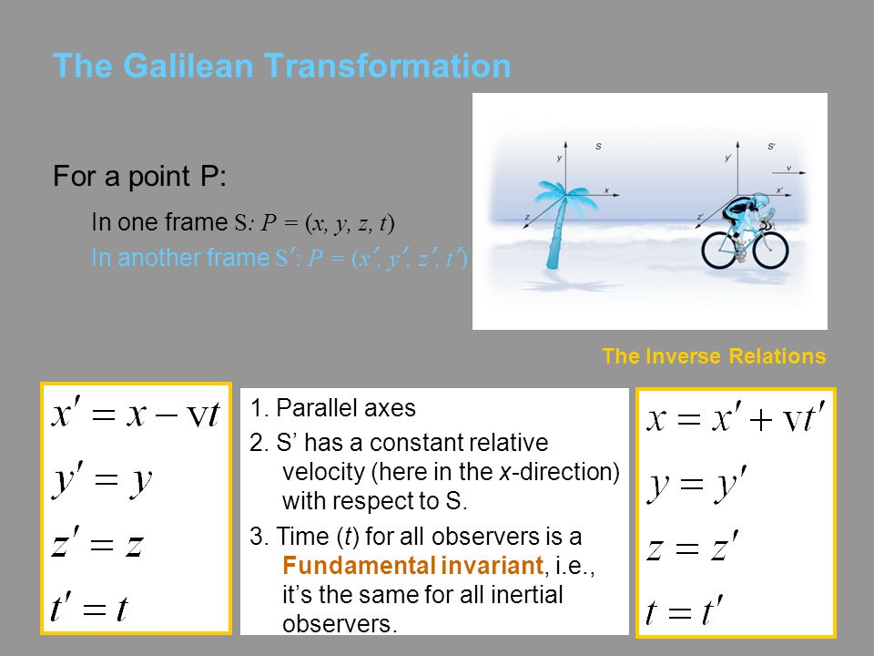 The Galilean Transformation