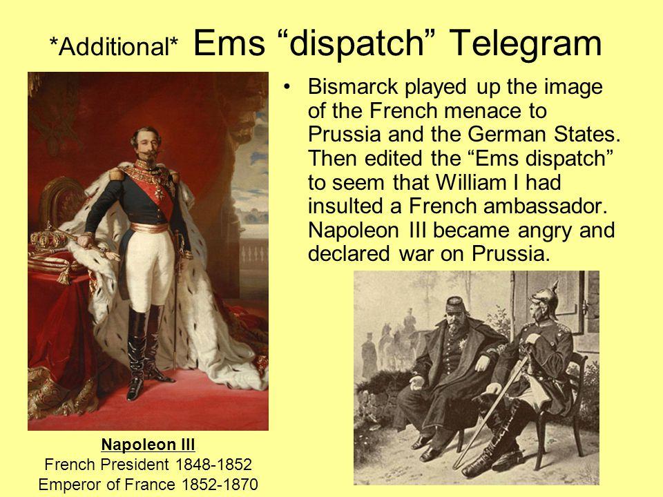 *Additional* Ems dispatch Telegram