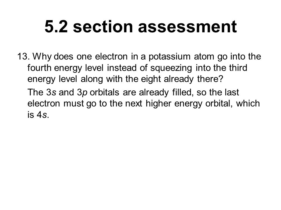 5.2 section assessment