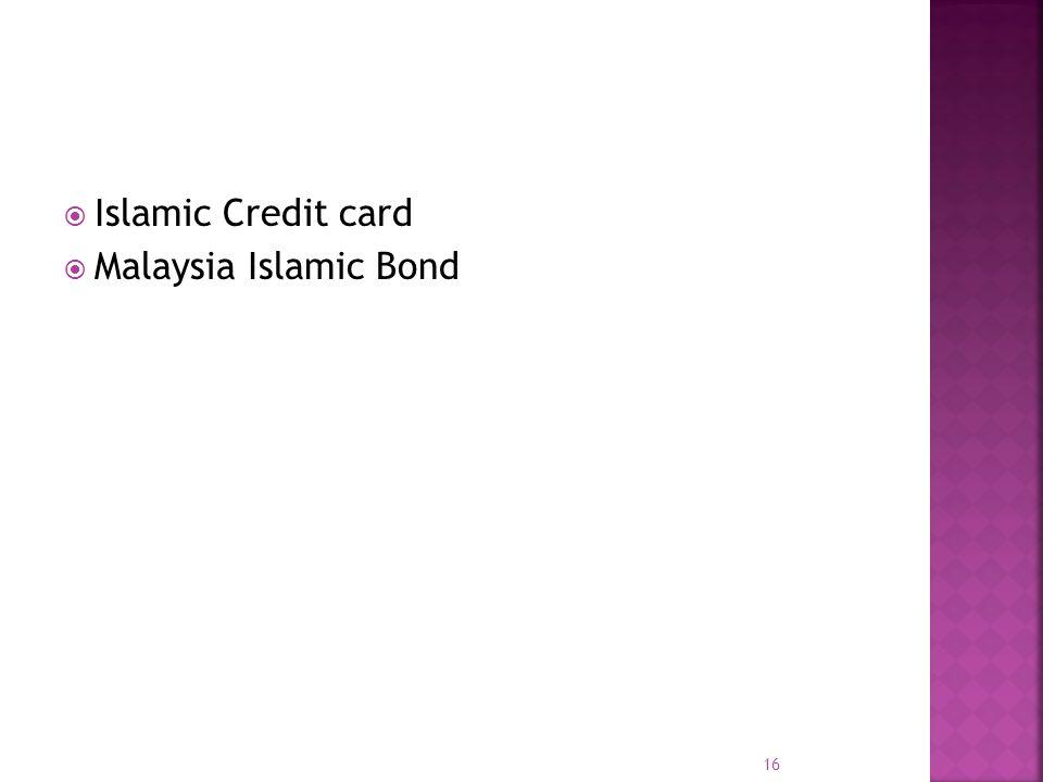 Islamic Credit card Malaysia Islamic Bond