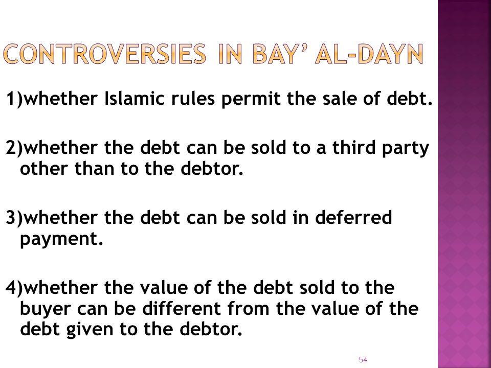 CONTROVERSIES IN BAY' AL-DAYN