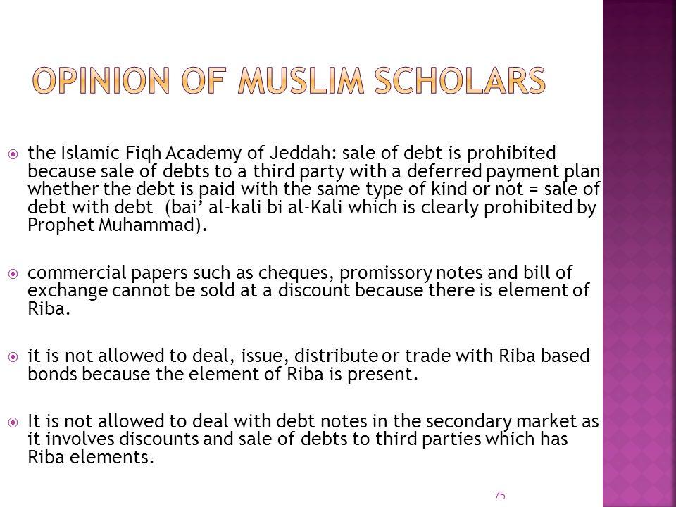 Opinion of Muslim scholars