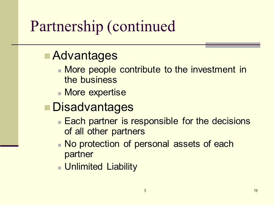 Partnership (continued