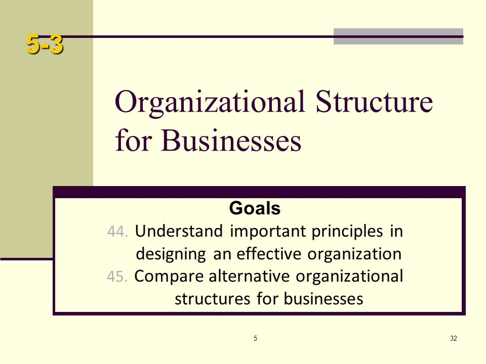 Organizational Structure for Businesses