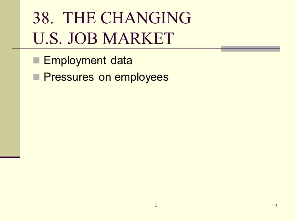 38. THE CHANGING U.S. JOB MARKET