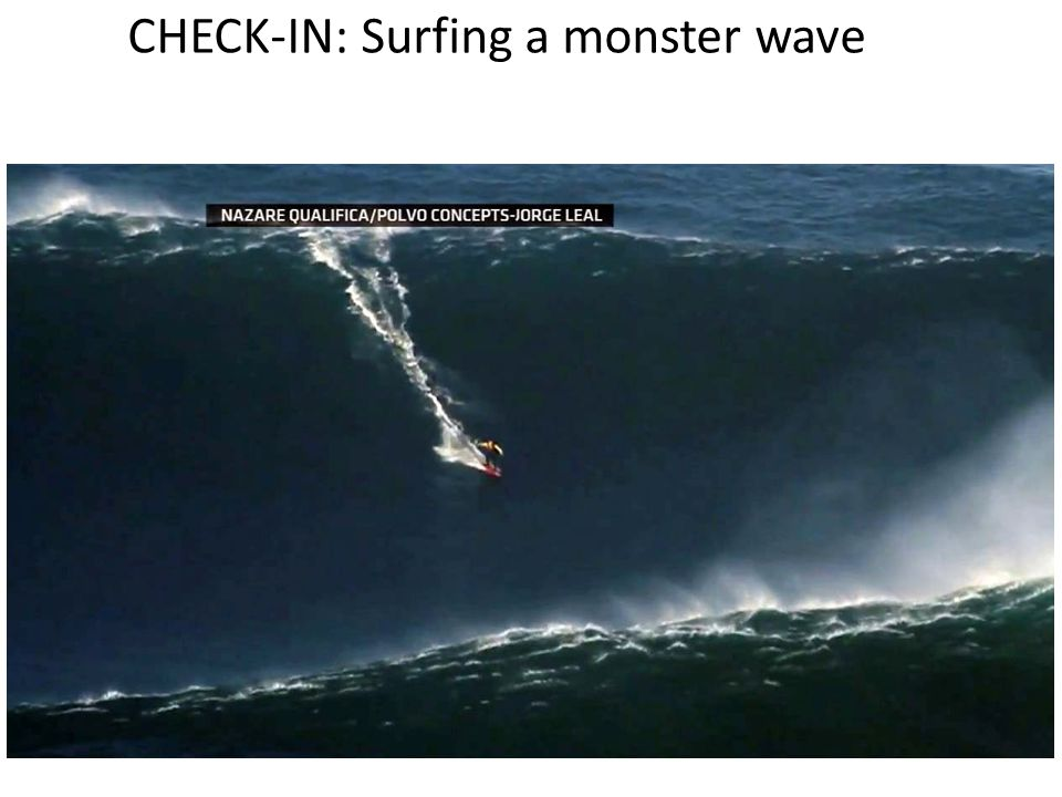 CHECK-IN: Surfing a monster wave