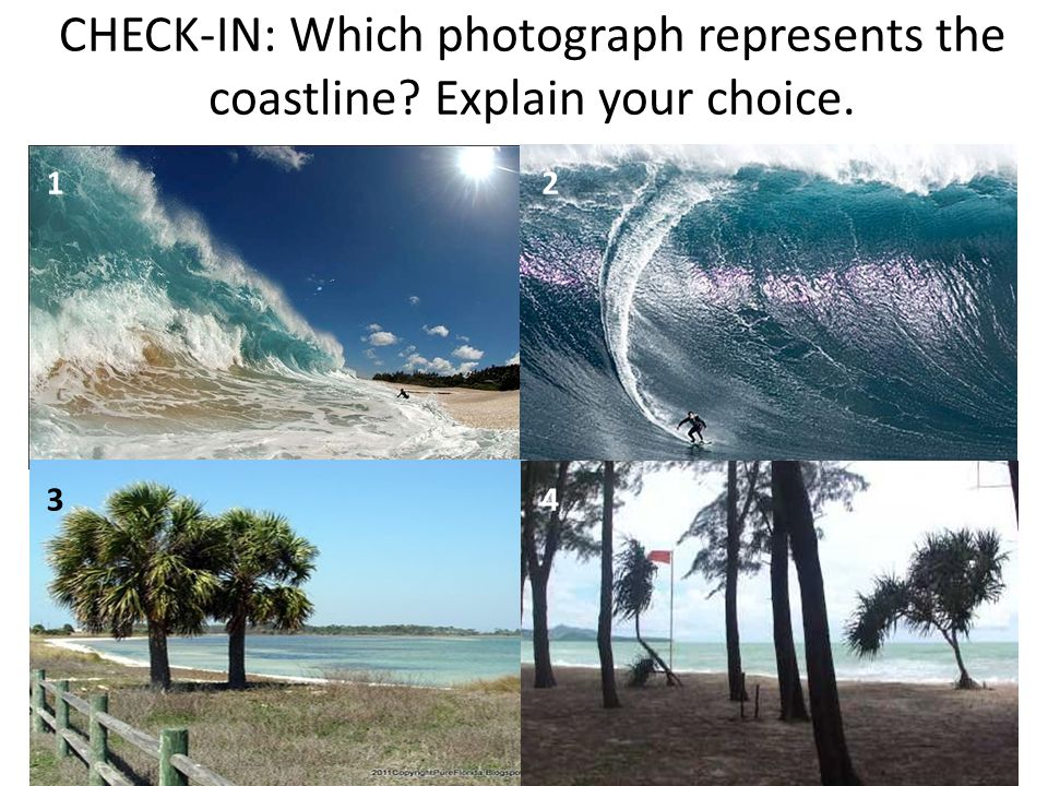 CHECK-IN: Which photograph represents the coastline