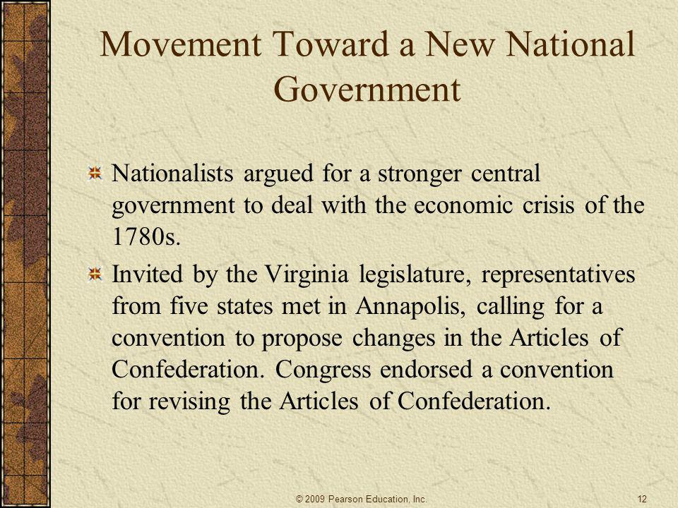 Movement Toward a New National Government