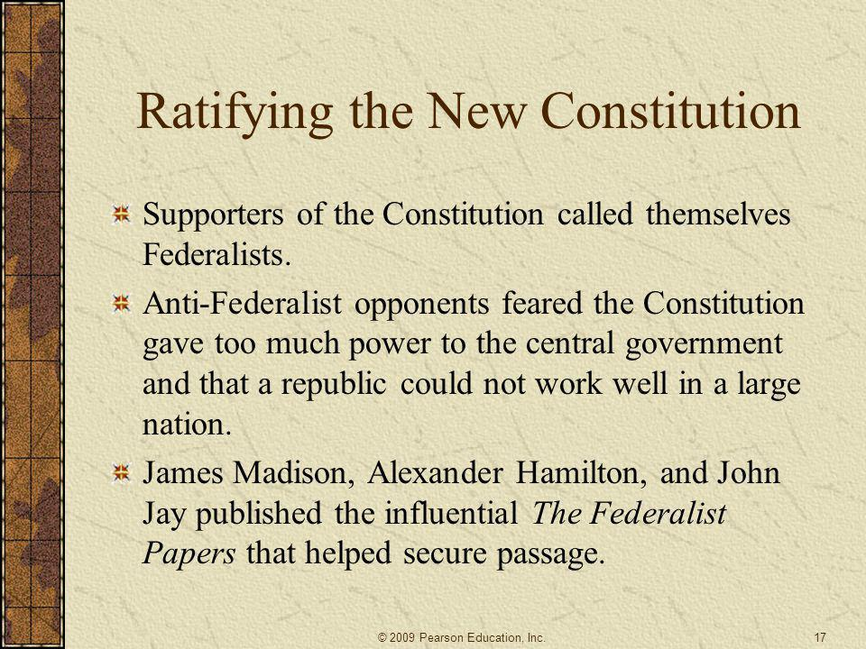Ratifying the New Constitution