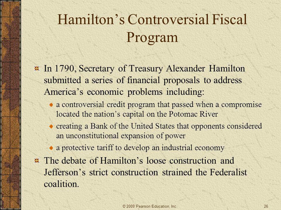 Hamilton's Controversial Fiscal Program