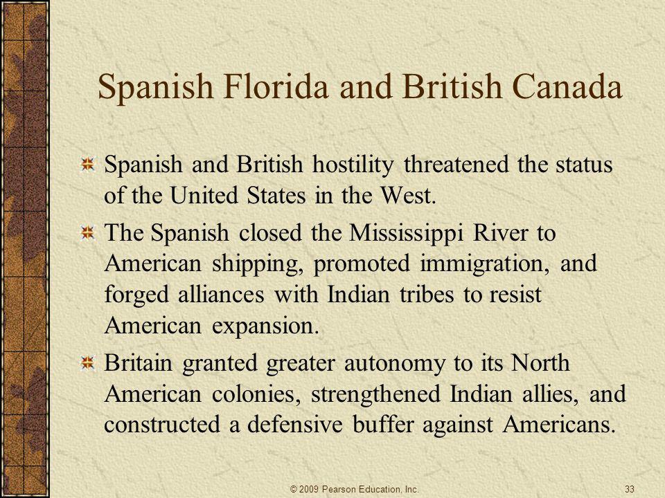 Spanish Florida and British Canada