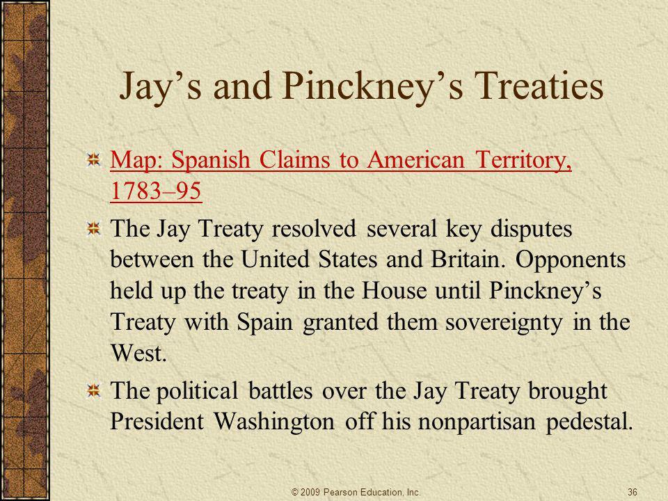 Jay's and Pinckney's Treaties