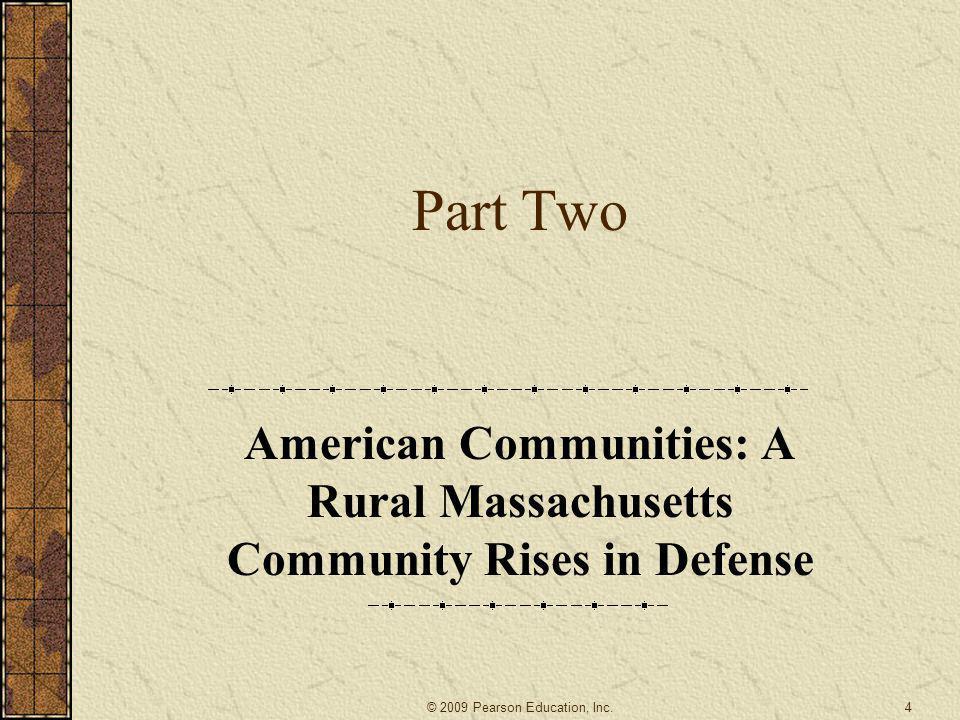 American Communities: A Rural Massachusetts Community Rises in Defense