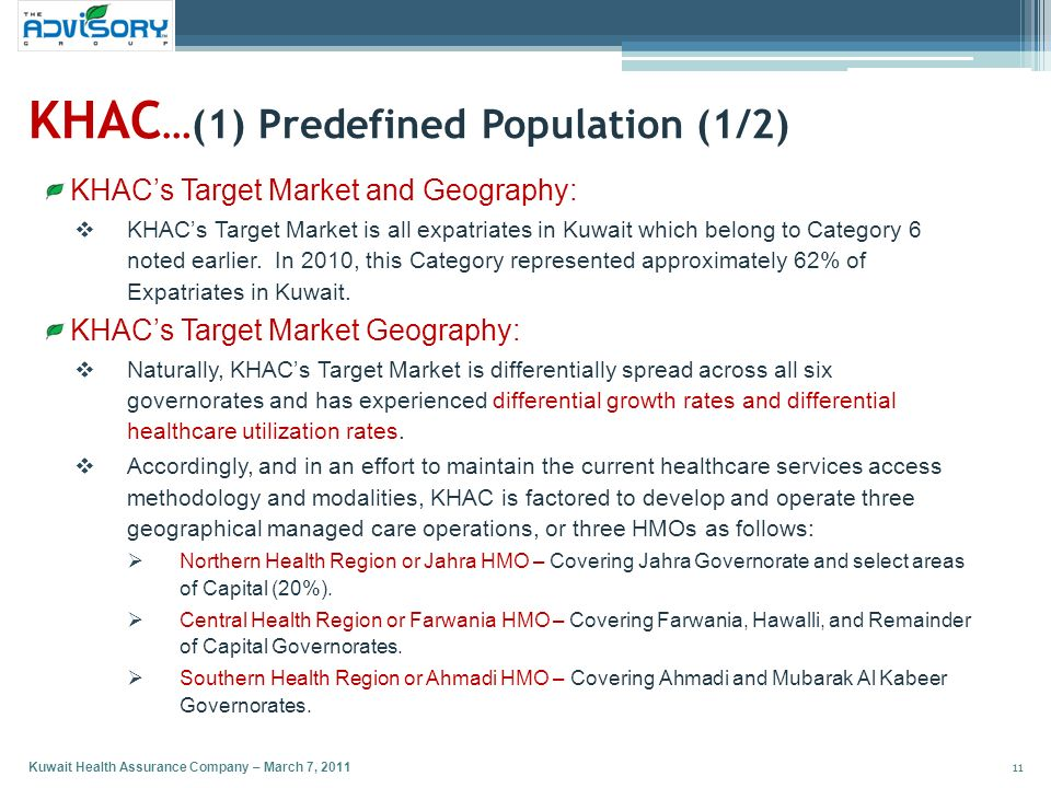 KHAC…(1) Predefined Population (1/2)