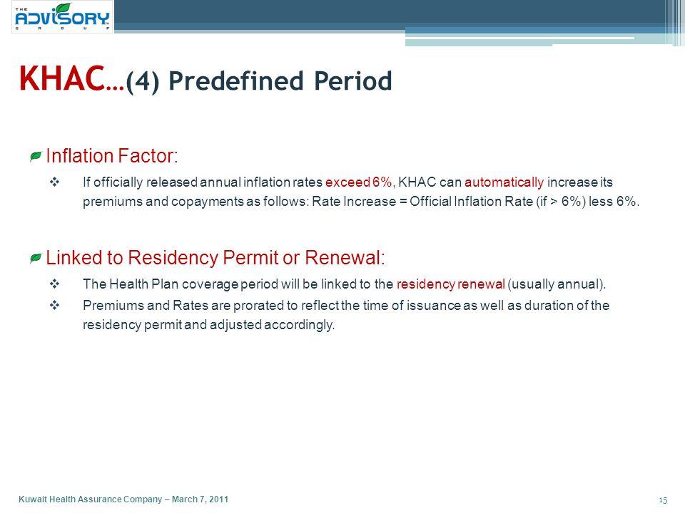 KHAC…(4) Predefined Period