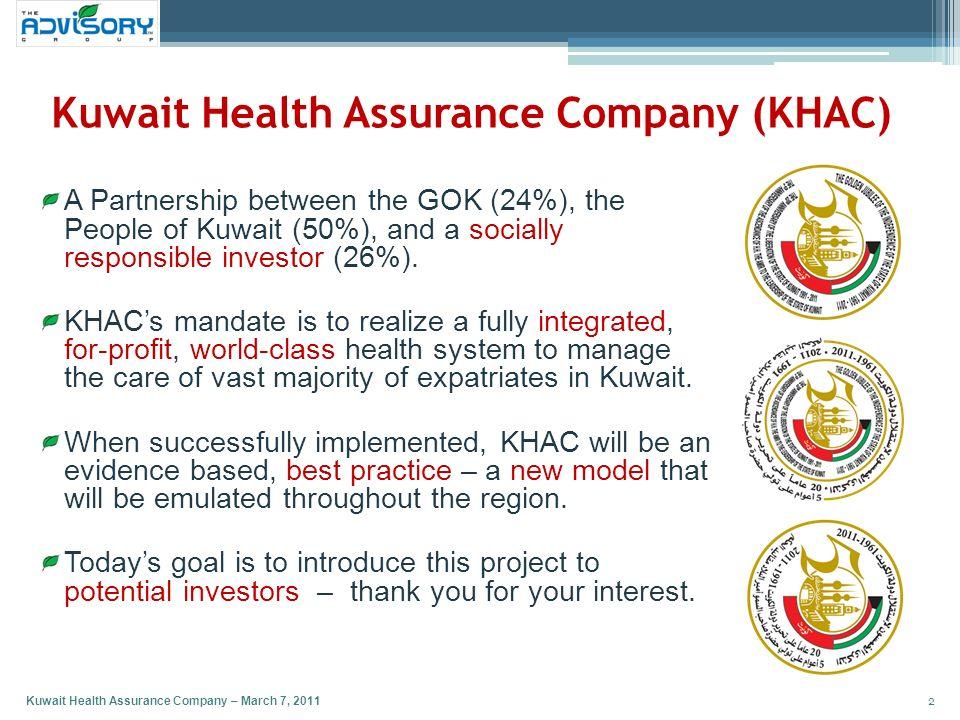 Kuwait Health Assurance Company (KHAC)