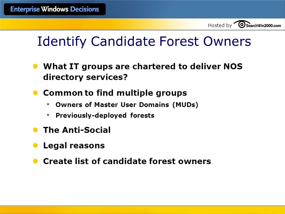 Identify Candidate Forest Owners