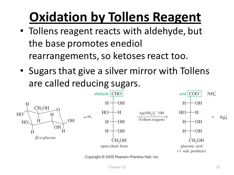 Oxidation by Tollens Reagent