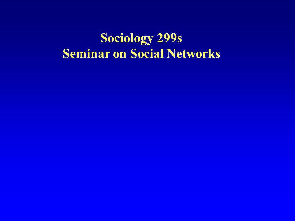 Seminar on Social Networks